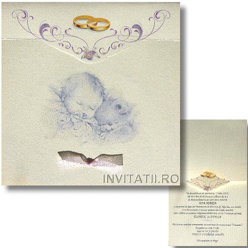 Invitatie Nunta Cu Botez Model Original Cod Nb4 Invitatiiro