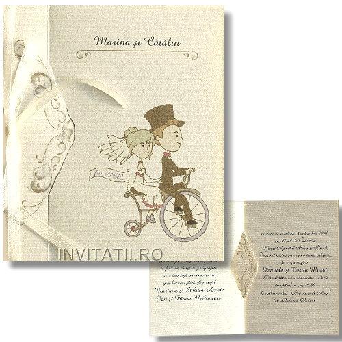 Invitatie Nunta Vintage Model Original Cod Vg2 Invitatiiro