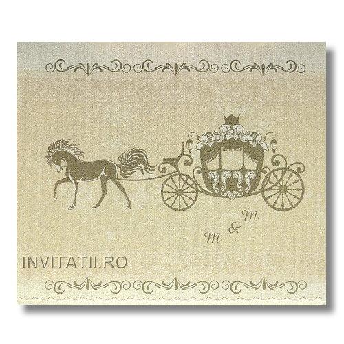 Invitatie Nunta Vintage Model Original Cod Vg3 Invitatiiro